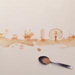 Bernulia, la artista que transforma las manchas de café en bellas obras de arte